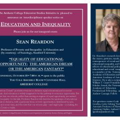 Event flier featuring a photo of Reardon