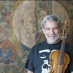 Stephen Nachmanovitch pictured with violin