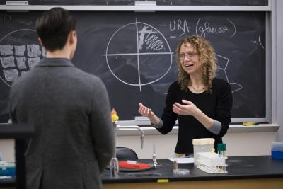 Genetic Analysis Class with Professor Caroline Goutte