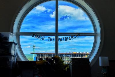 Circular WGC Window with a banner that reads,