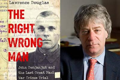 Lawrence Douglas and book cover, The Right Wrong Man