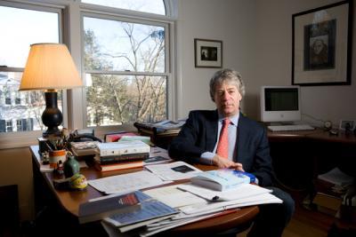 Lawrence Douglas at desk
