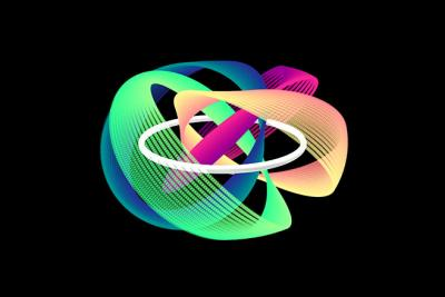 This figure illustrates part of the peculiar structure of the quantum knot.