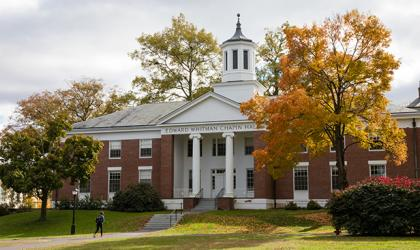 Capin Hall on a bright fall day