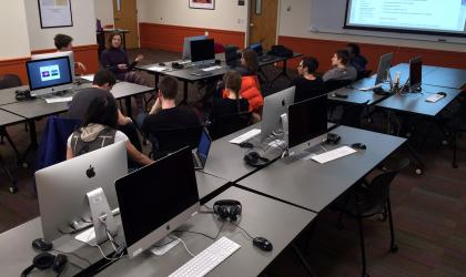 students in computer classroom