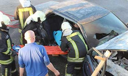 Fire rescue in Syria