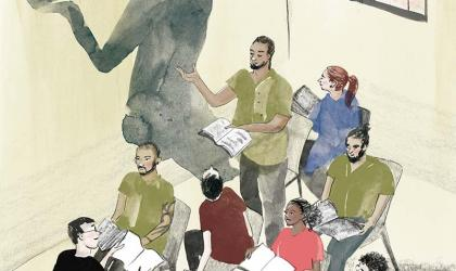 Shakespeare in Prison; illustration by Barbara Ott