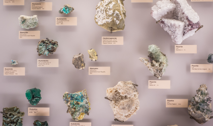 Various minerals as seen in the Beneski Museum