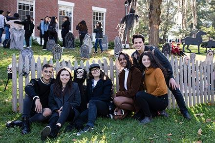 Amherst College students attending the Fall Festival