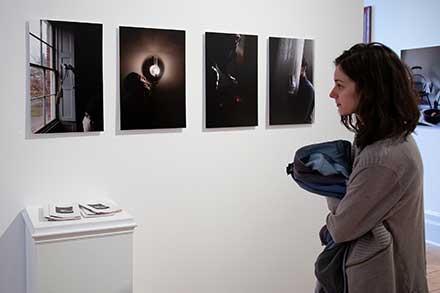 Art exhibit for three seniors