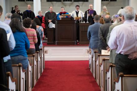 Baccalaureate celebration in Johnson Chapel