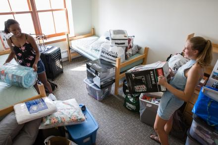 Students Moving Into Residence Hall
