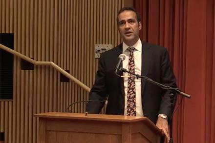Aatish Taseer speaking at Amherst College