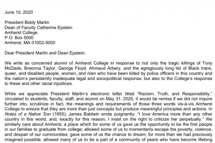 screenshot of letter