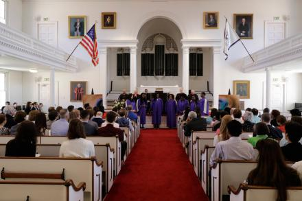 Gospel Choir singing at the Baccalaureate service