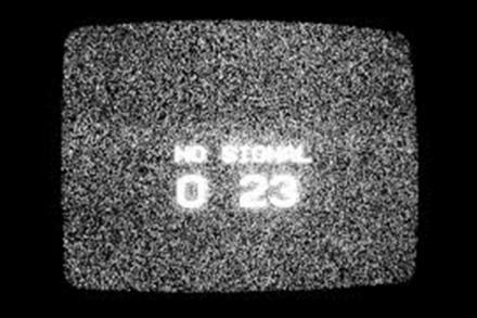 Cable TV - No Signal, white noise, Channel 23