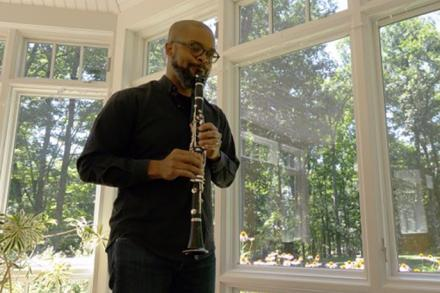 Darryl Harper playing the clarinet
