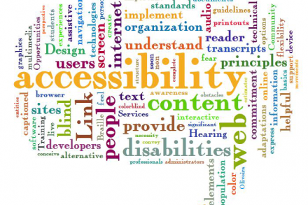 Accessibility services word cloud