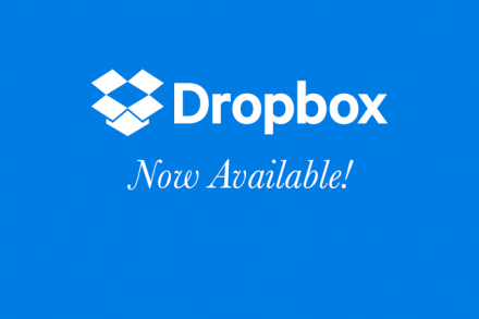 Dropbox Now Available!