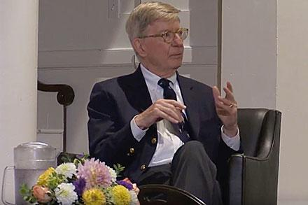 George Will speaking at Point/Counterpoint
