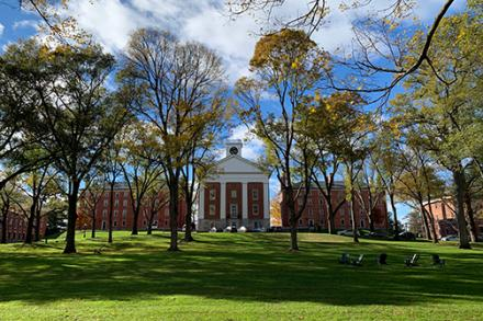 Johnson Chapel from the Amherst College quad