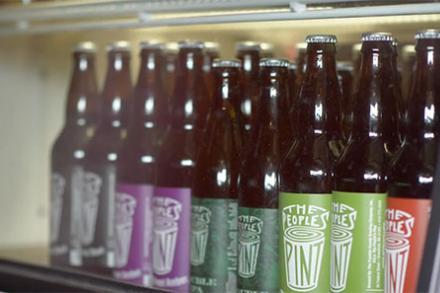 Peoples Pint beer bottles