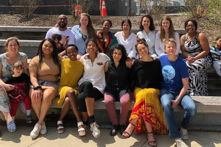SWAGS Department members at end-of-the-year brunch, April 2018