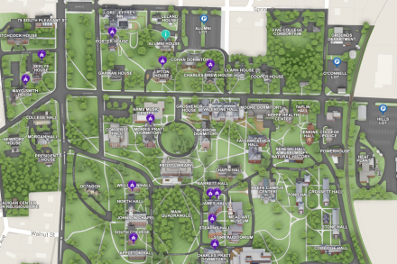 Section of campus map