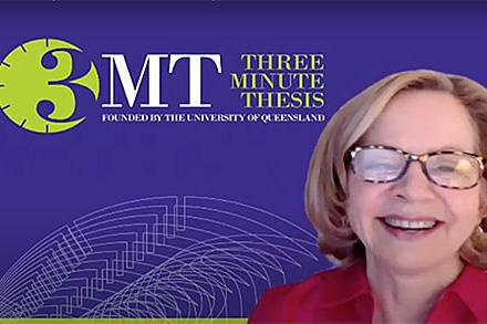 Three minute thesis competition at Amherst College