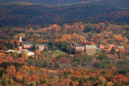 Amherst College campus in the Pioneer Valley