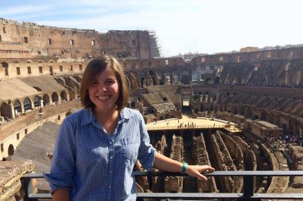 photo of student at the Colosseum