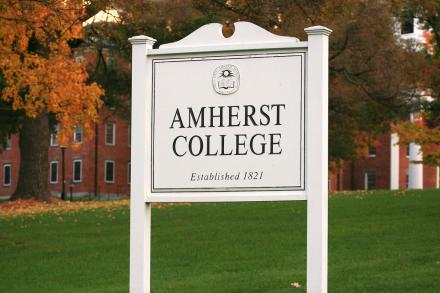 Amherst College sign