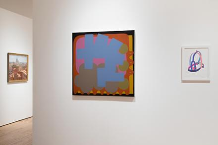 A abstract painting in the Eli Marsh Gallery