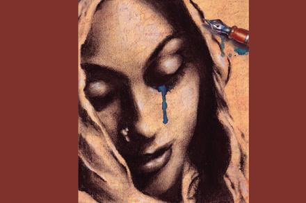 Image of woman's face from cover of book