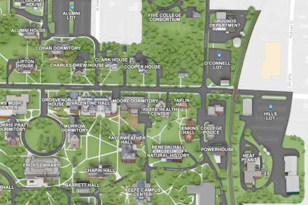Amherst College Campus Map Parking | Visiting | Amherst College