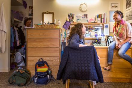 Students in a dorm room