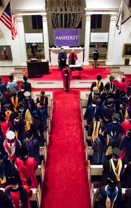 Convocation ceremony in Johnson Chapel