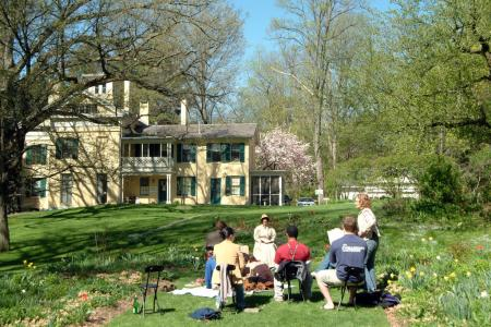 Outdoor event at the Emily Dickinson Museum