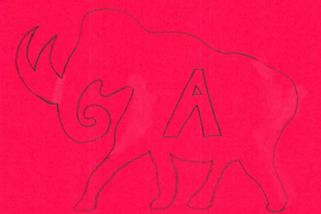 Student drawing of a mammoth