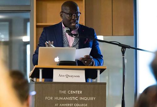 Ato Quayson speaking at the Digital Africas Symposium
