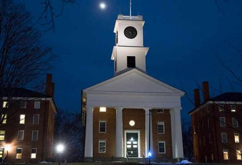 Johnson Chapel at night