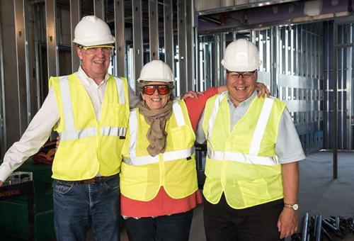 Faculty exploring the new Science Center