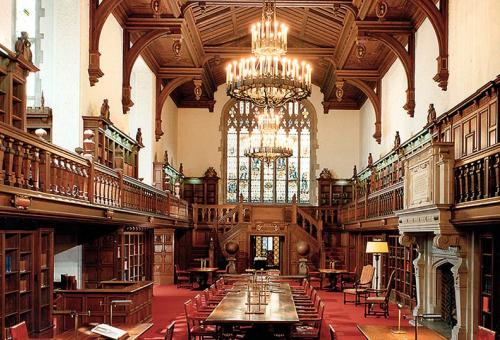 Interior view of the Folger Shakespeare Library