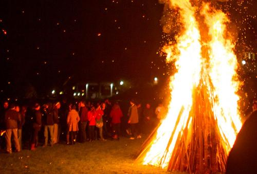 Homecoming bonfire