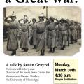 Event poster featuring a black-and-white photo of women lined up and saluting
