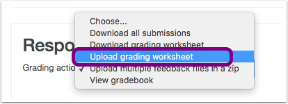 upload grading worksheet