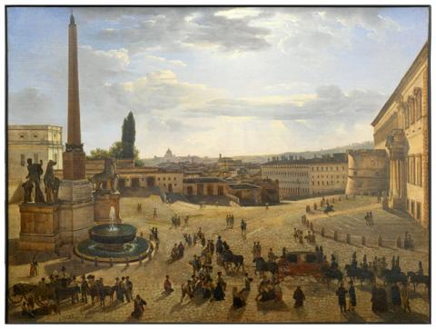 Silvestr Shchedrin, View of Rome from the Piazza del Quirinale, 1822.