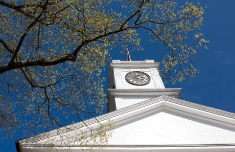 Johnson Chapel in spring