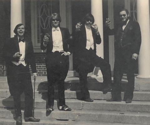 Bob Kingman '72 (2nd from left) with Peter Shea, Tom Urban and Tom Moss
