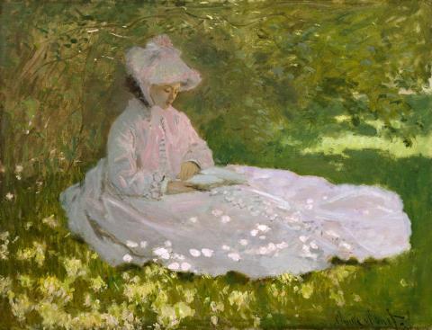 "Claude Monet, ""Springtime."" Wikipedia, public domain."